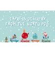 Santas Express From The North Pole vector image