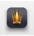 Queen icon Symbol of Crown on dark backdrop vector image
