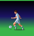 soccer player with a graphic trail vector image