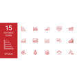 15 stock icons vector image vector image