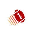american football ball with shoot effects logo vector image vector image