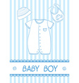 baby boy card vector image