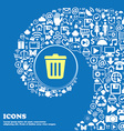 Bin icon Nice set of beautiful icons twisted vector image