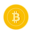 bitcoin internet currency coin isolated vector image