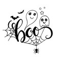 boo lettering vector image