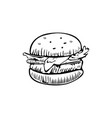 burger logo design template fast food or vector image