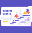 business growth modern landing page vector image