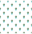cacti pot pattern seamless vector image vector image