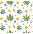 cannabis leaf pattern hand drawn doodle vector image