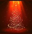 christmas background with tree art vector image