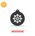 christmas ball icon simple flat style vector image vector image