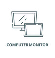 computer monitor line icon computer vector image