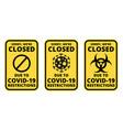 Covid19-19 closed sign set