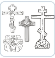 Cross and crucifix vector image
