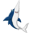 cute shark saws cartoon jumping vector image vector image