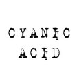 cyanic acid stamp on white vector image vector image