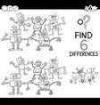 differences with robots coloring page vector image vector image