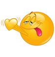Emoticon in love vector image