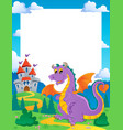 fairy tale theme frame 1 vector image vector image