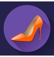 Fashionable woman shoes Icon High heels vector image vector image