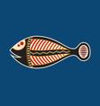 fish aboriginal art style vector image