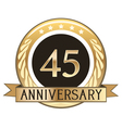 Forty Five Year Anniversary Badge vector image