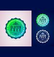 gluten free round badge premium quality organic vector image