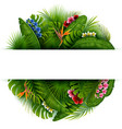 green summer background with tropical leaves vector image vector image