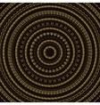 Hand drawn Circular pattern Gold Mandala vector image