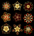 jewelry abstract flowers vector image
