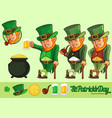 leprechaun cartoon and element collection vector image vector image