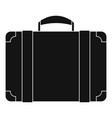 luggage bag icon simple style vector image