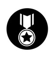 medal icon design vector image