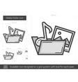Media folder line icon vector image