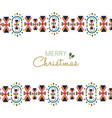 merry christmas festive folk decoration card vector image