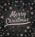 merry christmas greeting card with shiny pink vector image