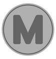 million silver coin vector image vector image
