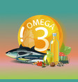 omega 3 polyunsaturated fatty acids vector image vector image