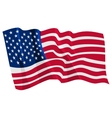 political waving flag of united states vector image vector image