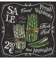 ripe asparagus logo design template fresh vector image vector image
