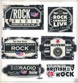 Rock music banner set vector image vector image