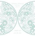 Round invitation card with floral ornaments vector image vector image