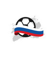 russia football club template design vector image vector image