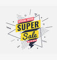 sale banner memphis style with geometric shapes vector image