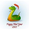Santa snake vector image