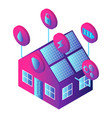 smart house icon isometric style vector image