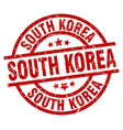 south korea red round grunge stamp vector image vector image