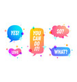 speech bubble set chat message vector image