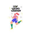 sportswoman jogging flat hand drawn vector image vector image