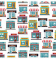 store fronts seamless pattern - cafe restaurant vector image vector image